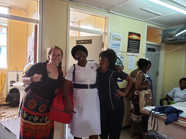 Kelsie and Zambia Nurses